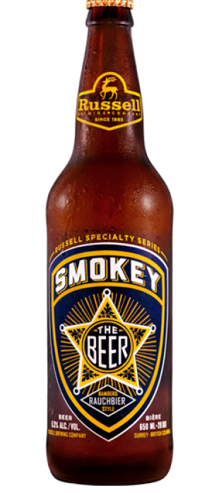 Smokey The Beer by Russell Brewing Company in British Columbia, Canada