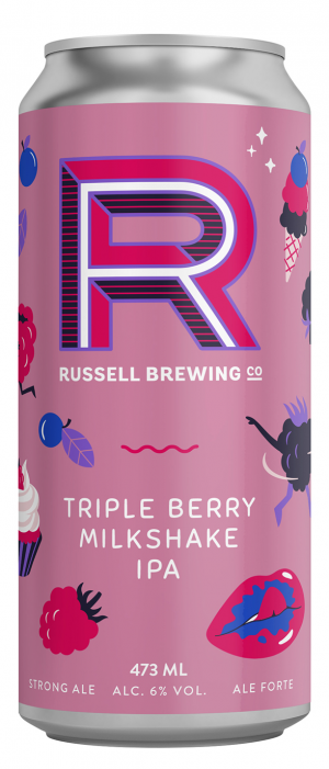 Triple Berry Milkshake IPA by Russell Brewing Company in British Columbia, Canada