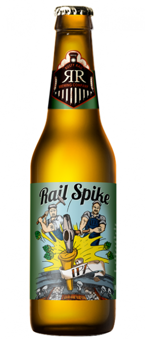 Rail Spike IPA by Rusty Rail Brewing Company in Pennsylvania, United States