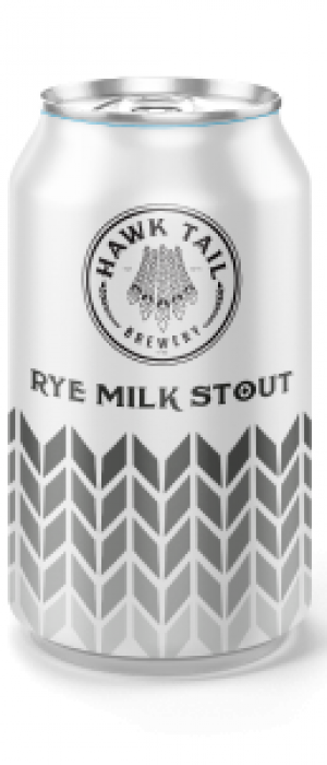 Rye Milk Stout by Hawk Tail Brewery in Alberta, Canada