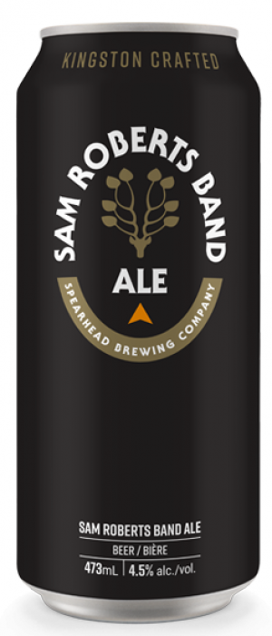 Sam Roberts Band Ale by Spearhead Brewing Company in Ontario, Canada