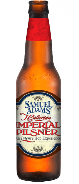 Samuel Adams Hallertau Imperial Pilsner by Samuel Adams in Massachusetts, United States