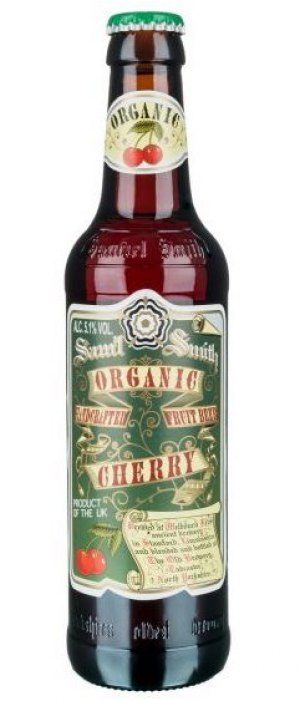 Organic Cherry Fruit Beer by Samuel Smith's Brewery in North Yorkshire - England, United Kingdom