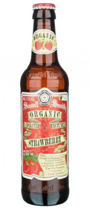 Organic Strawberry Fruit Beer by Samuel Smith's Brewery in North Yorkshire - England, United Kingdom