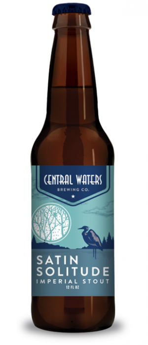 Satin Solitude Imperial Stout by Central Waters Brewing Company in Wisconsin, United States