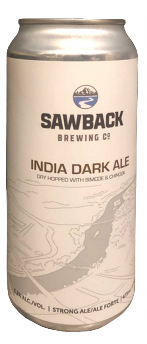 India Dark Ale by Sawback Brewing Company in Alberta, Canada