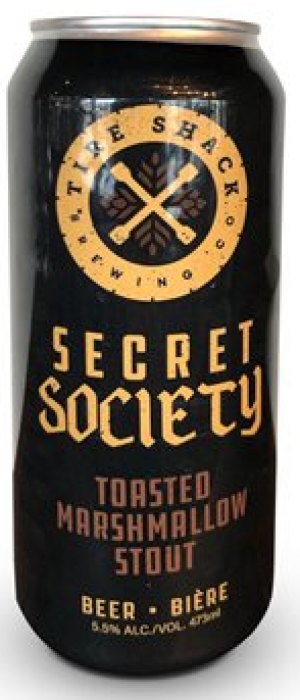 Secret Society Toasted Marshmallow Stout by Tire Shack Brewing Co. in New Brunswick, Canada