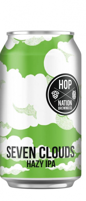 Seven Clouds Hazy IPA by Hop Nation Brewing Co. in Victoria, Australia