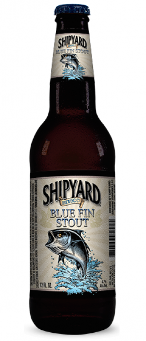 Blue Fin Stout by Shipyard Brewing Company in Maine, United States