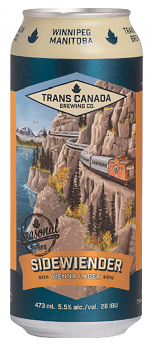 Sidewiender Vienna Lager by Trans Canada Brewing Co. in Manitoba, Canada