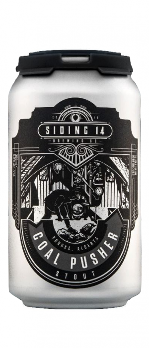 Coal Pusher Stout by Siding 14 Brewing Company in Alberta, Canada