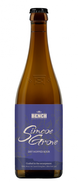 Simcoe Grove Dry Hopped Sour by Bench Brewing Company in Ontario, Canada