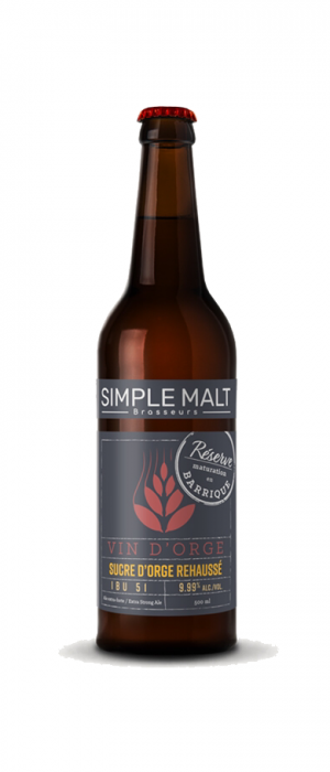 Vin D'orge Reserve by Simple Malt Brasseurs in Québec, Canada