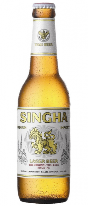 Singha Lager by Singha Beer International in Bangkok, Thailand