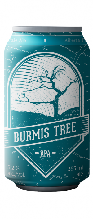 Burmis Tree Alberta Pale Ale by Six Corners Brew Works in Alberta, Canada