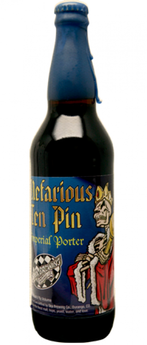 Nefarious Ten Pin Imperial Porter by SKA Brewing Company in Colorado, United States