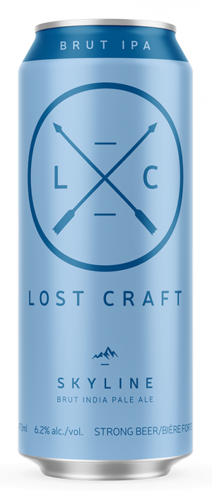 Skyline Brut IPA by Lost Craft Beer in Ontario, Canada