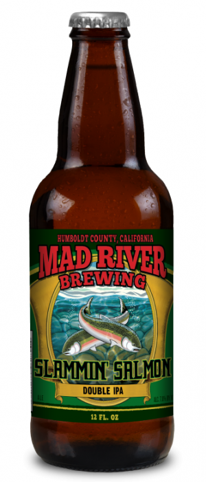 Slammin' Salmon Double IPA by Mad River Brewing in California, United States