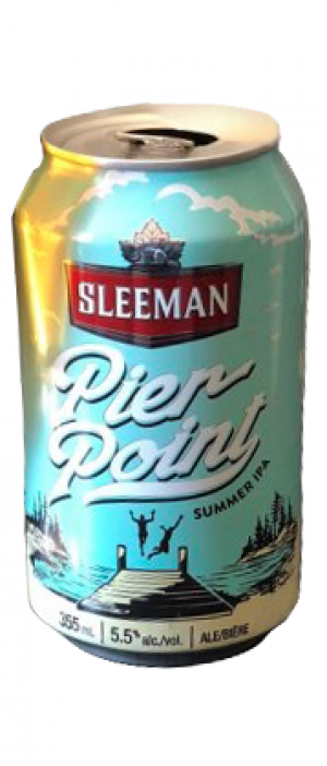 Pier Point Summer IPA by Sleeman in Ontario, Canada