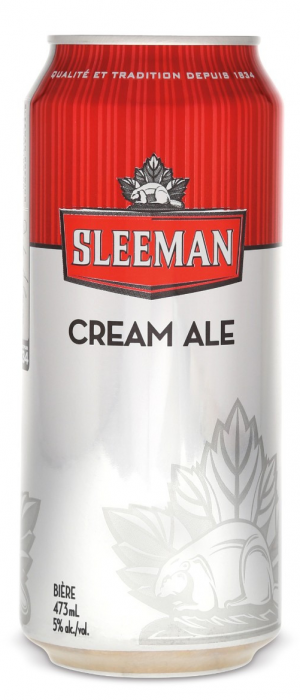 Cream Ale by Sleeman in Ontario, Canada