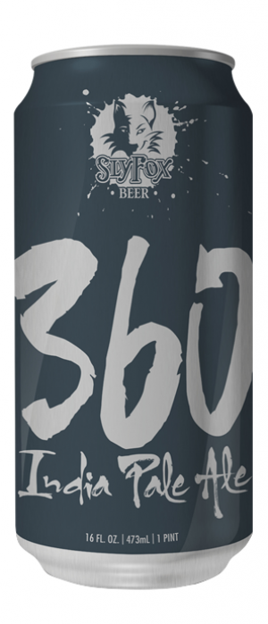 360 IPA by Sly Fox Brewing Company in Pennsylvania, United States