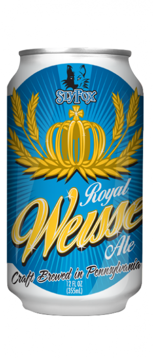 Royal Weisse by Sly Fox Brewing Company in Pennsylvania, United States