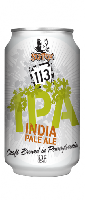 Rt. 113 IPA by Sly Fox Brewing Company in Pennsylvania, United States