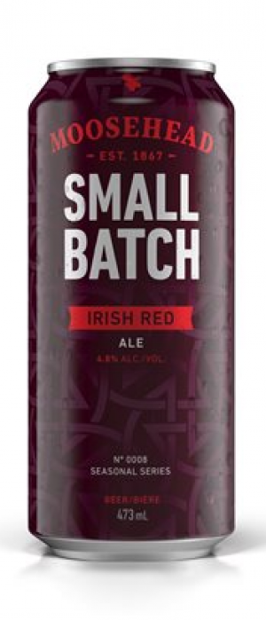 Small Batch Irish Red Ale by Moosehead in New Brunswick, Canada