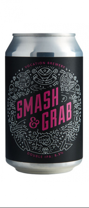 Smash & Grab Double IPA by Vocation Brewery in West Yorkshire - England, United Kingdom