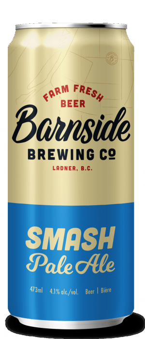 Smash Pale Ale by Barnside Brewing Co. in British Columbia, Canada