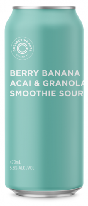 Smoothie Sour: Berry Banana Acai & Granola by Collective Arts Brewing in Ontario, Canada