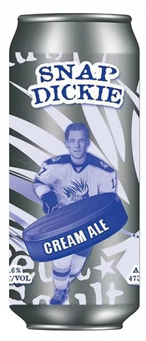 Snap Dickie Cream Ale by Les Brasseurs du Petit-Sault Brewers in New Brunswick, Canada
