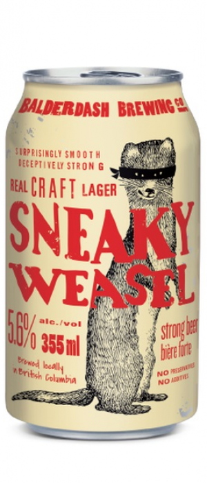 Sneaky Weasel by Balderdash Brewing Company in British Columbia, Canada