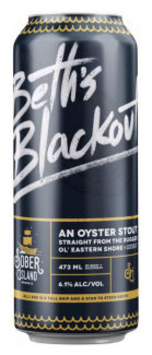 Beth's Blackout Oyster Stout by Sober Island Brewing Company in Nova Scotia, Canada