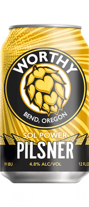 Sol Power Pilsner by Worthy Brewing Co.  in Oregon, United States