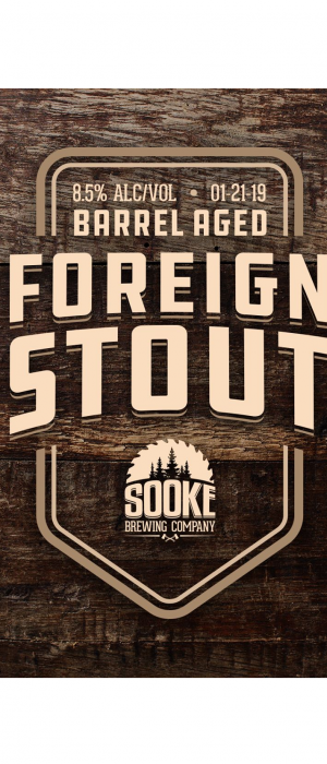 Barrel Aged Foreign Stout by Sooke Brewing Company in British Columbia, Canada