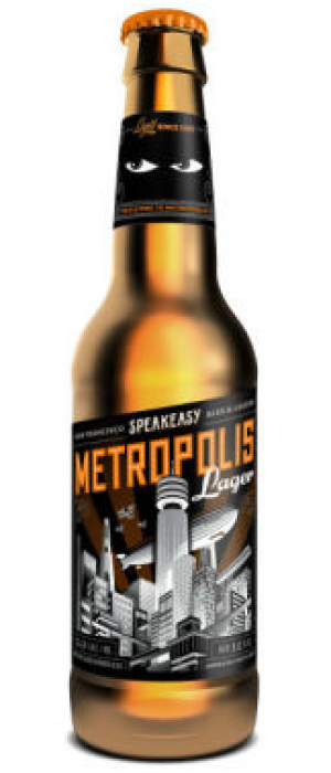 Metropolis Lager by Speakeasy Ales & Lagers in California, United States