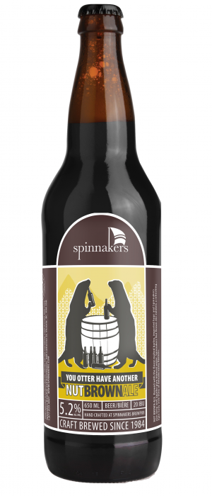 Nut Brown Ale by Spinnakers Brewpub & Guesthouses in British Columbia, Canada