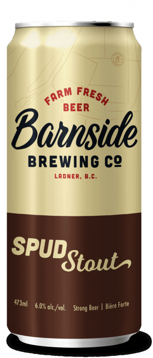 Spud Stout by Barnside Brewing Co. in British Columbia, Canada