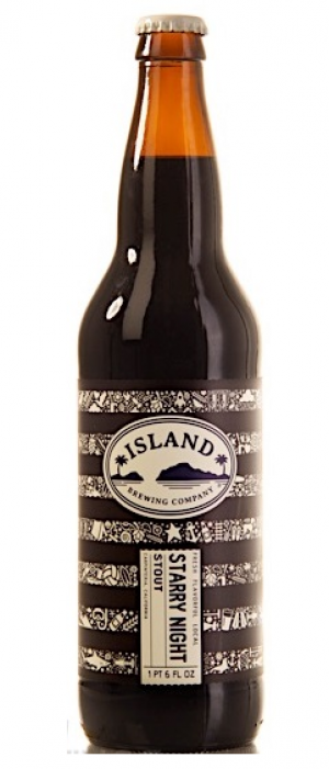 Starry Night Stout by Island Brewing Company in California, United States