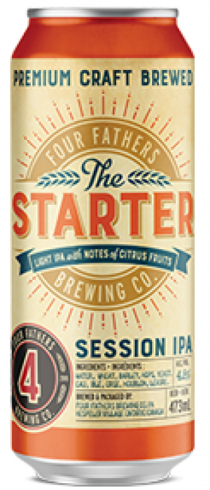 The Starter Session IPA by Four Fathers Brewing Co.  in Ontario, Canada