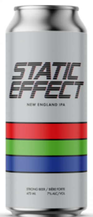 Static Effect New England IPA by Cabin Brewing Company in Alberta, Canada