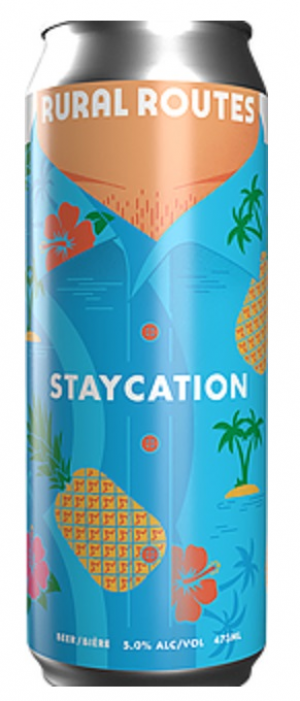 Staycation Pineapple Blonde by Rural Routes Brewing Company in Alberta, Canada