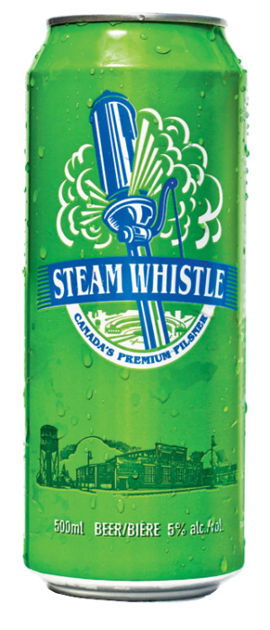 Steam Whistle Pilsner by Steam Whistle Brewery in Ontario, Canada