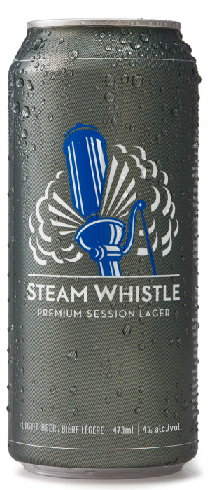 Steam Whistle Premium Session Lager by Steam Whistle Brewery in Ontario, Canada