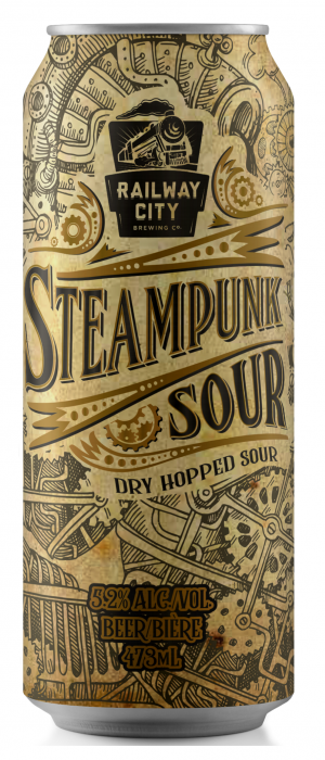 Steampunk Sour by Railway City Brewing Company in Ontario, Canada