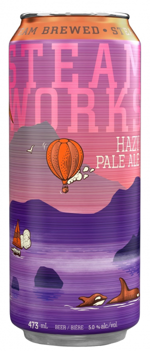 Hazy Pale Ale by Steamworks Brewing Company in British Columbia, Canada
