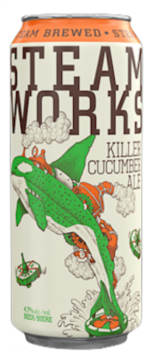 Killer Cucumber Ale by Steamworks Brewing Company in British Columbia, Canada