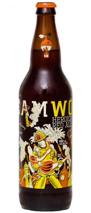 Heroica Red Ale by Steamworks Brewing Company in British Columbia, Canada