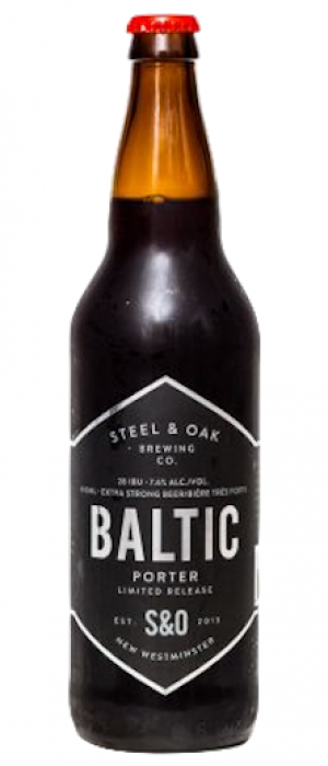 Baltic Porter by Steel & Oak Brewing Co. in British Columbia, Canada